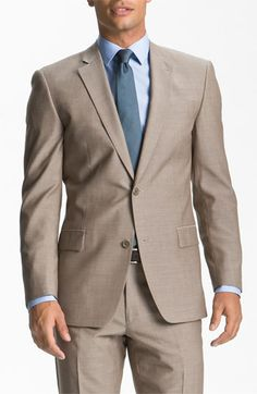 John Varvatos Star USA 'Bedford' Tan Wool Suit available at #Nordstrom