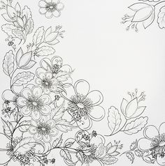 A really pretty page of flowers from the Fabulous Flowers colouring book for grown-ups