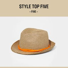 #5 - EXPRESS – Neon Braid Band Straw Fedora, $34.90 (Chosen by our stylists!)