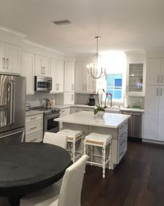 See how this cramped galley kitchen was transformed with Martha Stewart Living kitchens from The Home Depot.