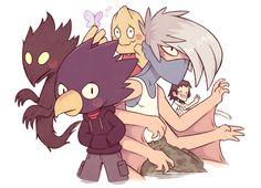 Kouda, Shouji, Fumikage, and Sero. My Hero Academia