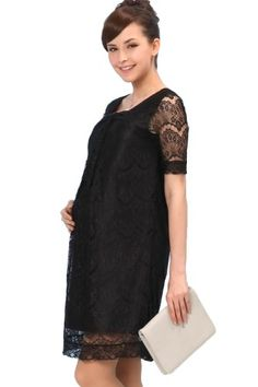 d462b00273 Sweet Mommy Openwork Lacy Maternity and Nursing Formal Dress BKS