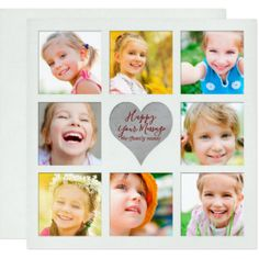 8 Image Photo Card suitable for Valentines Day