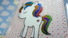 Unicorn with Deco Foil and Toner Ink Marker Minc Gaborin Gaboriela Scrapbook