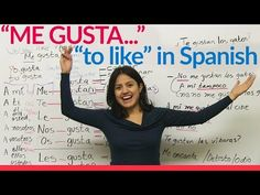 "Me gusta - ""to like"" in Spanish - YouTube - Butterfly Spanish - Too adorable! :)"