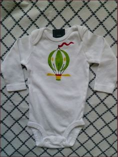 Hotair Balloon Baby Bodysuit by LillaRika on Etsy, $18.00