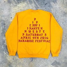 Head over to hypebeast.com now to see Kanye West's latest merchandise for @paradiseimf. by hypebeast