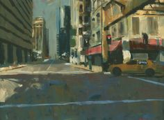 "Darren Thompson; Oil, 2012, Painting ""Early Sunday Morning #4"""