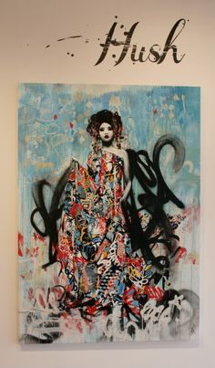 Vandalog – A Street Art Blog » Hush – Sirens at Metro Gallery Armadale
