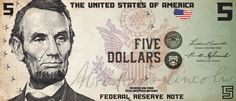 US Currency Re-Design by Michael Stuckey, via Behance
