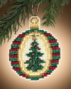 Naughty - Beaded Cross Stitch Kit from Mill Hill. Kit Includes: Mill Hill Beads, perforated paper, floss, needles, chart and instructions. Finished size: x Cross Stitch Christmas Ornaments, Xmas Cross Stitch, Beaded Cross Stitch, Christmas Embroidery, Counted Cross Stitch Kits, Christmas Cross, Cross Stitch Embroidery, Cross Stitch Patterns, Cross Stitching