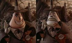 Typical two-faced politician: The Mayor of Halloweentown from Nightmare Before Christmas.