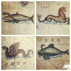 sea monster prints