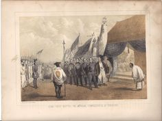 Commo Perry Meeting The Imperial Commissioners At Yokuhama, American. W. T. Peters (Published: Sarony 1855 New York)
