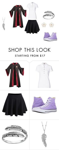 """""""Ella Uniform"""" by bookprincess-313 on Polyvore featuring Burberry, WithChic, Converse, Primrose, Penny Preville and Accessorize"""