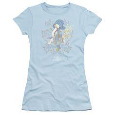 HOLLY HOBBIE PICKED FLOWERS Juniors Sheer Cap Sleeve T-Shirt