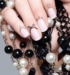 Ciaté Cuticle Tattoos transfers :: New nail art trends 2014 Cuticle Tattoos, Nail Cuticle, Nail Tattoos, Tatoos, Spring Nail Art, Spring Nails, Nagel Stamping, Bow Tattoo Designs, Nagel Bling