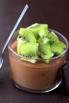 Receita de Mousse de Chocolate Light com Kiwi