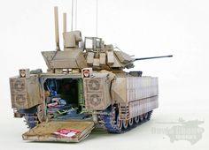 TRACK-LINK / Gallery / M2A3 w/BUSK III Bradley IFV Bradley Ifv, Bradley Fighting Vehicle, Trump Models, Model Tanks, Military Modelling, Fun Hobbies, Military Weapons, Armored Vehicles, Plastic Models