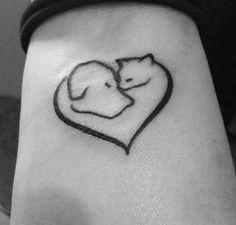 dog and cat tattoo - Recherche Google