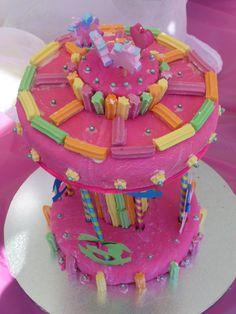 Merry Go Round cake made for my Granddaughter  Aliza's birthday.