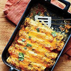 Mexican Entrées Under 300 Calories | Chicken Enchiladas  | MyRecipes
