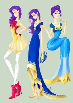 Rarity's Costumes... I love the first ones boots :D