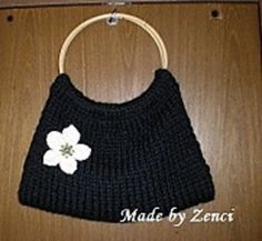 Ravelry: Easy knit purse with flower pattern