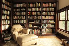 James Hughes :: The Librarian Home Library Rooms, Home Library Design, Home Libraries, House Design, Beautiful Library, Dream Library, Cosy Reading Corner, Reading Nooks, Library Inspiration