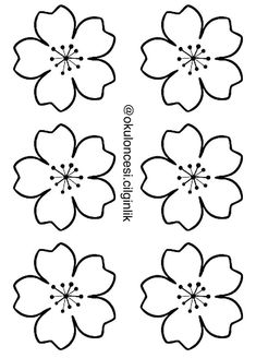 paper flower templates 2 - - Her Crochet Flower Petal Template, Flower Svg, Butterfly Template, Flower Tutorial, Flower Crafts, Embroidery Patterns, Hand Embroidery, Coloring Books, Coloring Pages