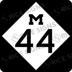On the road again!! This time MICHIGAN Route 44.  Custom Route Sign Simulator for All 50 States.