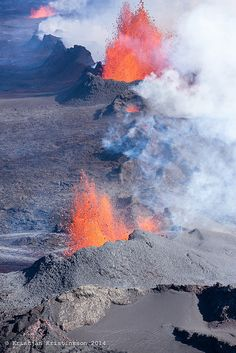 Ongoing eruption in Holuhraun, North Iceland. It can go on for years!