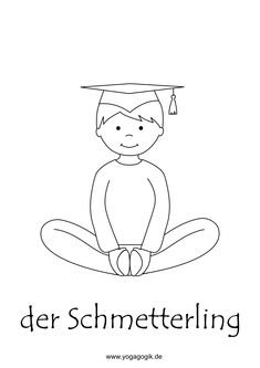 Butterfly children& yoga coloring page, Kids Yoga Poses, Yoga For Kids, Childrens Yoga, Butterfly Kids, Better Posture, Yoga Positions, Meditation For Beginners, How To Start Yoga, Yoga Art
