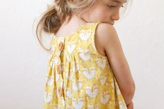 Fox dress with wooden buttons // LBG Studio for StraightGrain