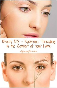 diy-eyebrows-threading! Ermergerd!! This works! Try putting Oragel on your eyebrow area 3 min before, it will numb your eyebrow and it won't hurt as much!