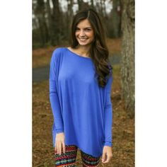 PIKO:Just About Anywhere Blouse-Royal - $32.00
