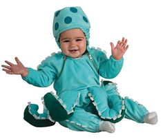 Octopus Infant CostumeCute Sea Creature Costume Includes: Cutest little octopus you will see. Jumpsuit with extra tentacles attached and matching headpiece. Available Size: Newborn months) Infant months) Toddler Product Halloween Bebes, Toddler Halloween Costumes, Cute Costumes, Halloween Fancy Dress, Baby Costumes, Halloween Ideas, Halloween Night, Halloween Stuff, Awesome Costumes
