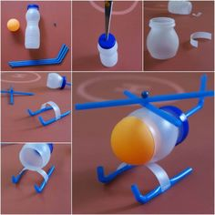 DIY Platic Bottle Helicopter Kid Toys