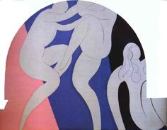 Henri Matisse - The Dance 1933  The Dance 1933 339x441cm oil/canvas three panels Barnes Foundation, Lincoln University, Merion, PA, USA