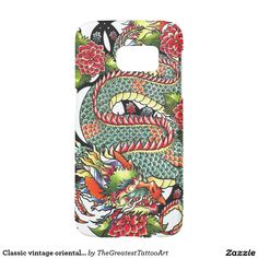 Classic vintage oriental japanese Dragon Tattoo Samsung Galaxy S7 Case
