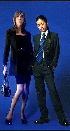 A modern male and female.