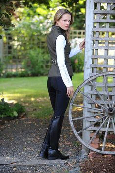 """Limited Edition Bonded Vest with Bit by Arista""  Love the snaffle on the back."