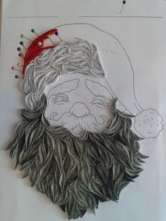 Quilling santa BY Branka Miletić! How To Do Quilling, Origami And Quilling, Quilling 3d, Quilling Patterns, Quilling Designs, Quilling Ideas, Paper Quilling Tutorial, Quilled Paper Art, Quilling Paper Craft