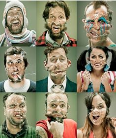 Scotch Tape portraits