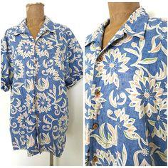 Ocean Pacific Shirt Size XLarge Reverse Print Hawaiian Mens Casual Camp Tiki #OceanPacific #Hawaiian