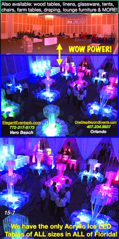 Affordable Party Rentals Lighted Table Amp Led Furniture