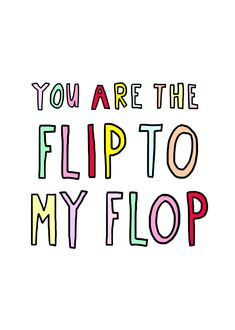 You are the flip to my flop!   Studio Stationery ft. Elma Kit - Summer Edition (www.studiostationeryblog.nl)