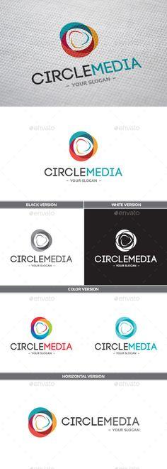 CircleMedia Logo — Vector EPS #color #circle • Available here → https://graphicriver.net/item/circlemedia-logo/9935450?ref=pxcr