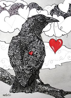 Hey, I found this really awesome Etsy listing at https://www.etsy.com/listing/178081936/ill-give-you-my-heart-crows-ravens