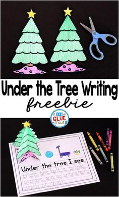 Under the Tree Writing is the perfect activity to have your students write about what they want to see under their Christmas tree. This free printable is perfect for preschool, kindergarten, and first grade students this holiday season.